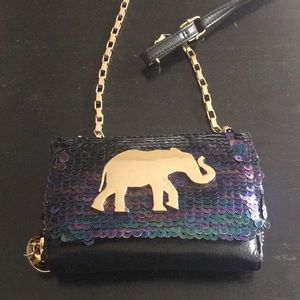 🖤Deux Lux Sequin Elephant Sahara Crossbody Clutch